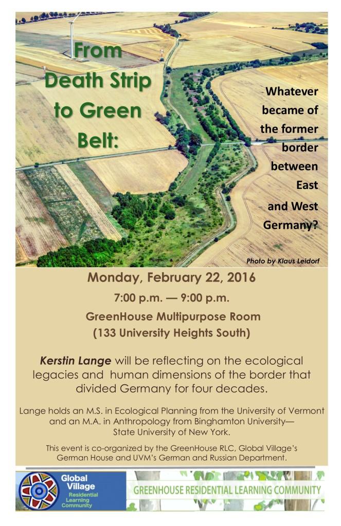 Green Belt Poster